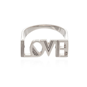 Art Deco Love Ring - Silver