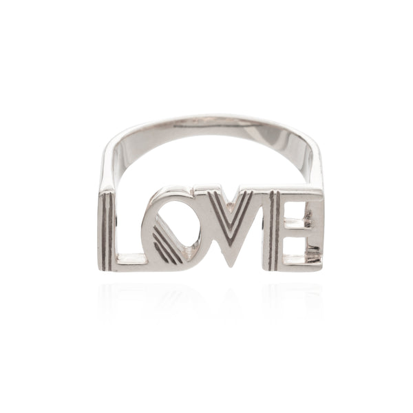 Love ring silver Rachel Jackson London
