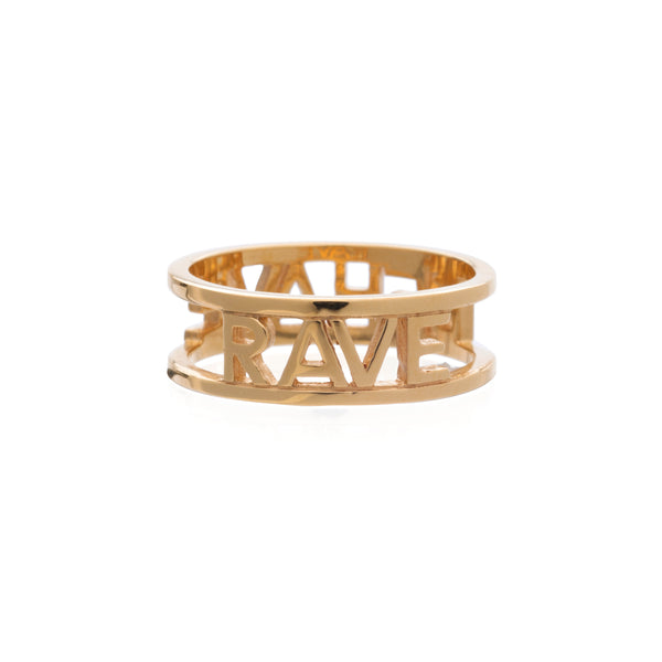 Rave behave ring gold Rachel Jackson London