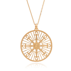 Key of Life Medallion Necklace - Gold