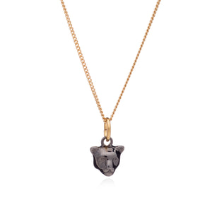 Mini Panther Necklace - Black & Gold