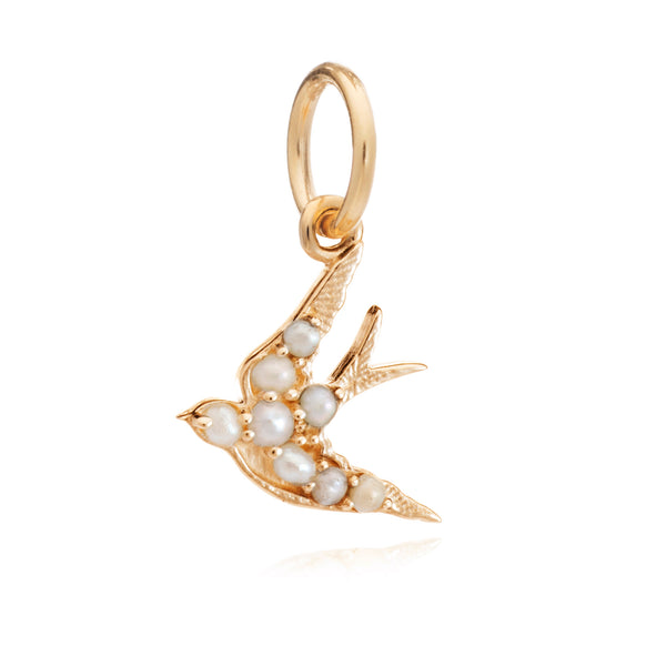 Mother of Daughters Swallow charm gold Rachel Jackson London