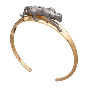 Panther Bangle - Black & Gold