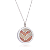 Positivity Citrine Carnelian Birthstone chevron necklace silver Rachel Jackson London