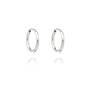 Huggie Hoop Earrings - Silver