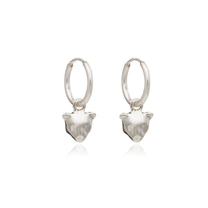 Mini Panther Hoop Earrings - Silver