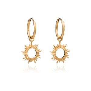 Eternal Sun Mini Hoop Earrings - Gold