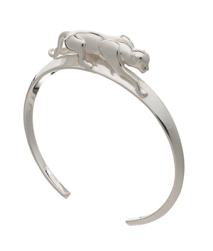 Panther Bangle - Silver
