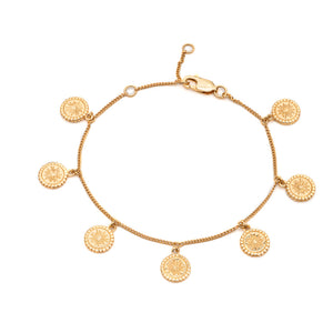 Eternal Sun Coin Bracelet - Gold