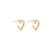 Mother of Daughters Mini Gold Heart Hoops Rachel Jackson London