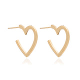 Mother of Daughters Medium Gold Heart Hoops Rachel Jackson London
