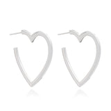 Mother of Daughters Large Silver Heart Hoops Rachel Jackson London