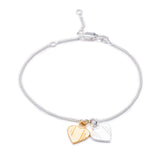Mother of Daughters mixed metal heart charm chain bracelet silver Rachel Jackson London