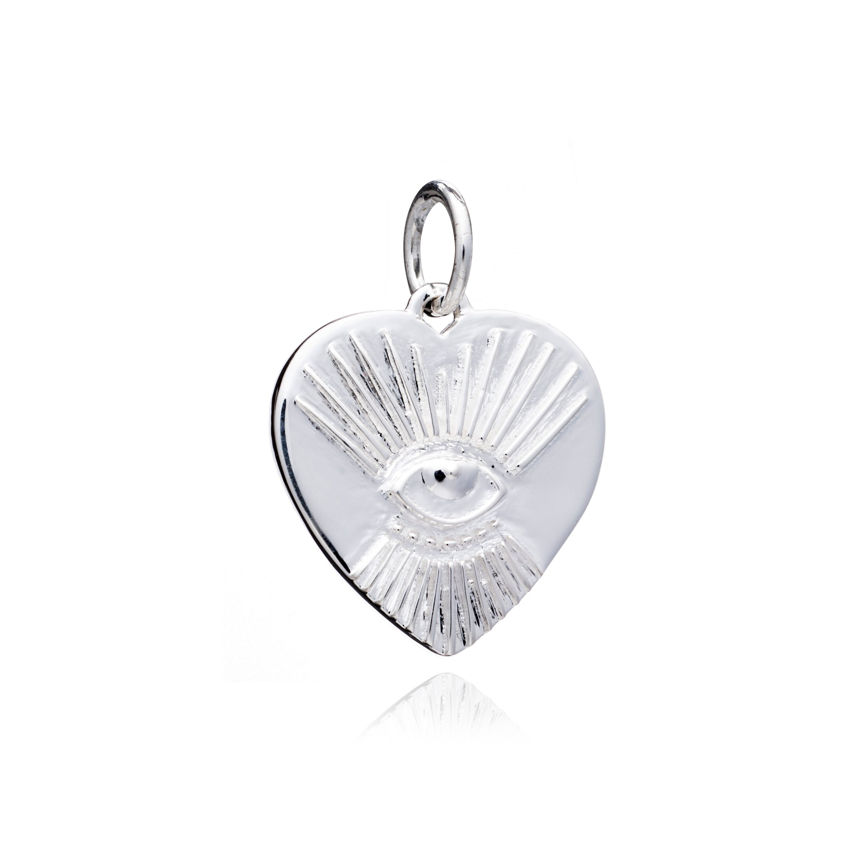 """Protective"" Tattoo Heart Charm - Silver"