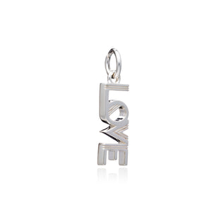 Art Deco Love Charm - Silver