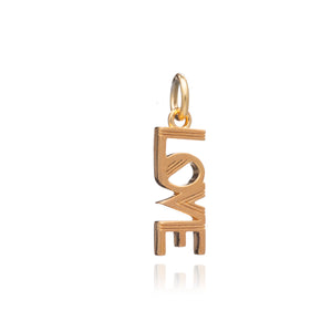 Art Deco Love Charm - Gold