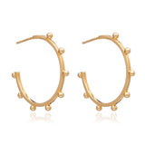 Large Punk Hoops - Gold