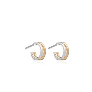 Mixed Metal Mini Punk Hoops