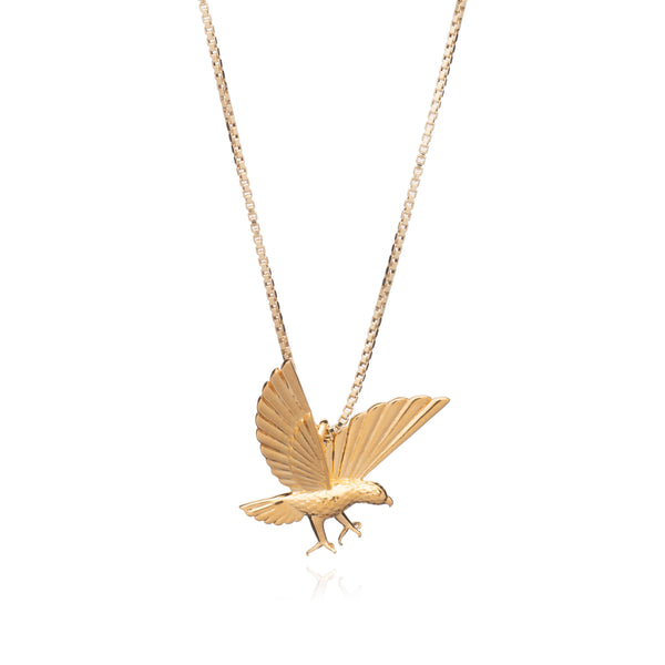 """Strength"" Statement Eagle Necklace - Gold"