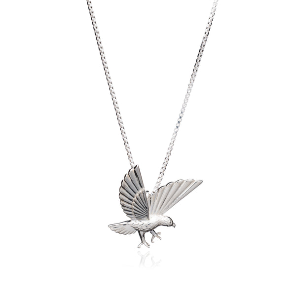 """Strength"" Statement Eagle Necklace - Silver"