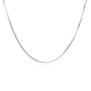 Mid-length Fine Box Chain - Silver