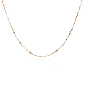 Mid-length Fine Box Chain - Gold