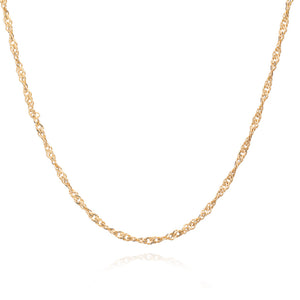 Mid-length Twist Chain Necklace - Gold