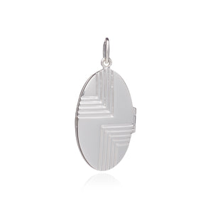 Art Deco Locket - Silver