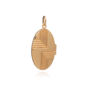 Art Deco Locket - Gold
