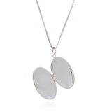 Art Deco Locket Necklace - Silver