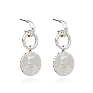 Luminary Statement Loop Earrings - Silver