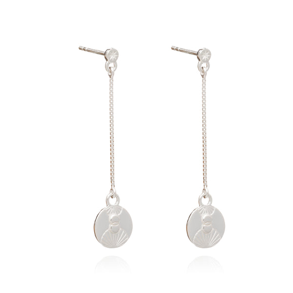 Luminary Art Coin Drop Earrings - Silver