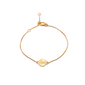 Luminary Art Coin Bracelet - Gold
