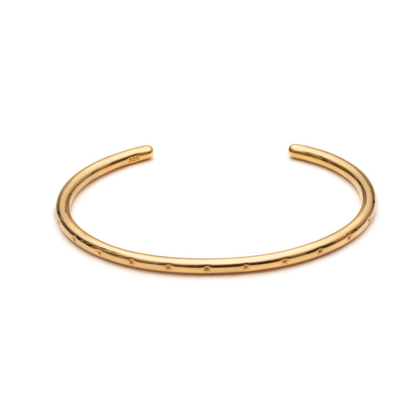 Star Studded Bangle - Gold