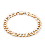 Boyfriend Curb Chain Bracelet - Gold