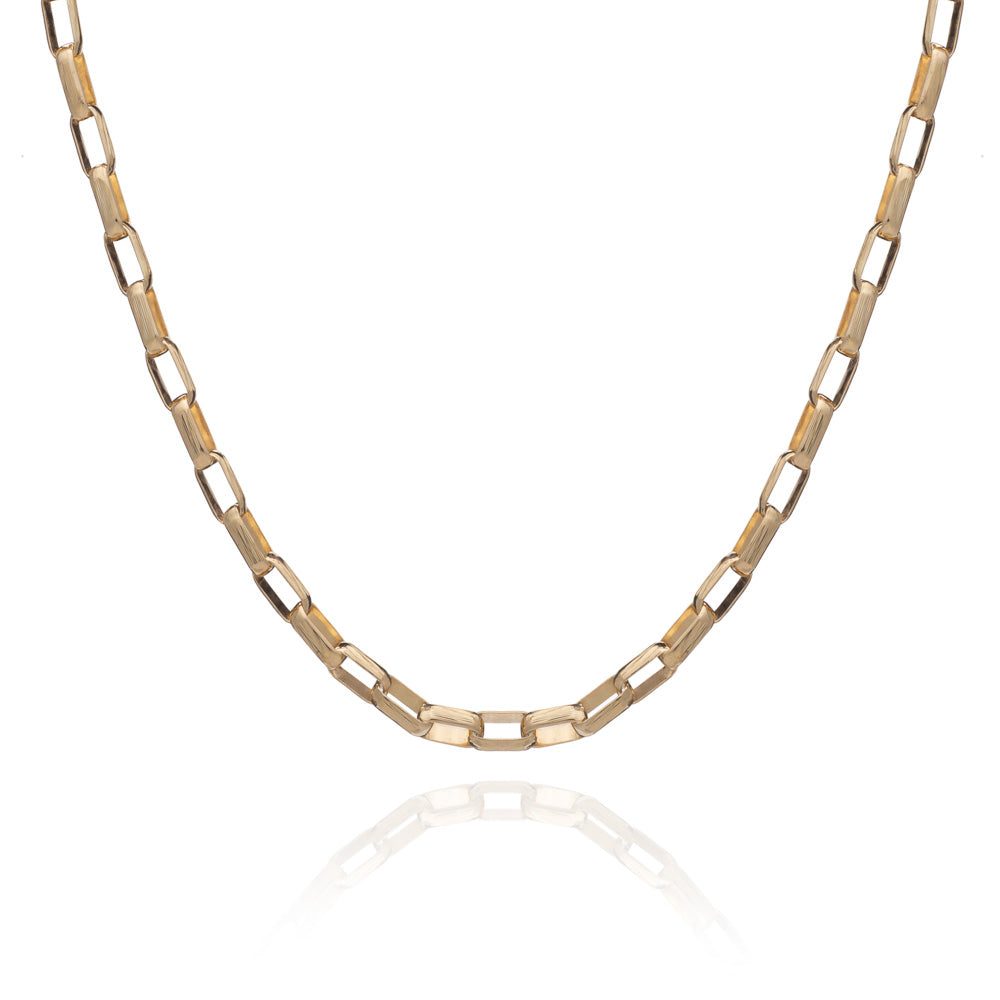 Boyfriend Box Chain Necklace - Gold