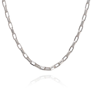 Boyfriend Box Chain Necklace - Silver