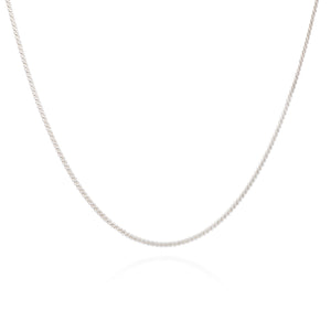 Serpentine Choker Chain Short Necklace - Silver