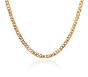 Boyfriend Curb Chain Necklace - Gold