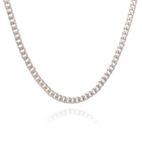 Boyfriend Curb Chain Necklace - Silver