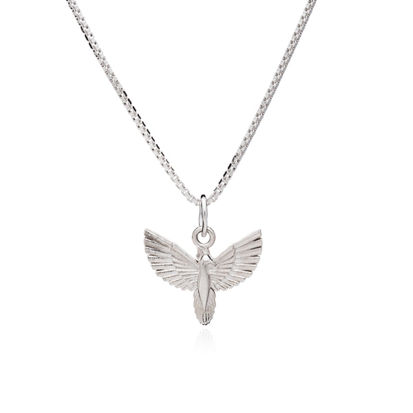 Rising Phoenix Necklace - Silver