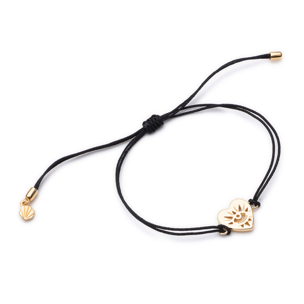 Tattoo Heart Friendship Bracelet - Gold
