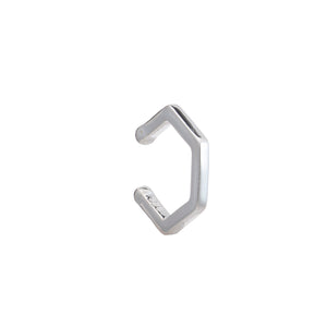Hexagon Silver Ear Cuff