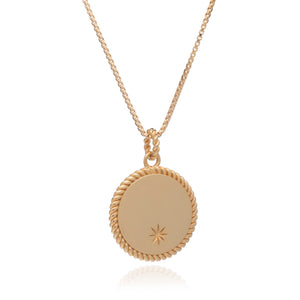 Dina Tokio Gold Personalised Coin Necklace