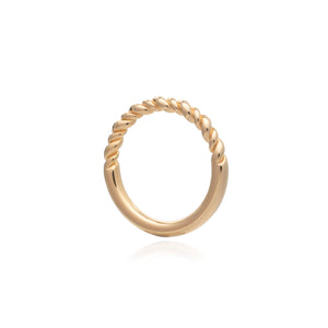 Dina Tokio Gold Rope Twist Stacking Ring