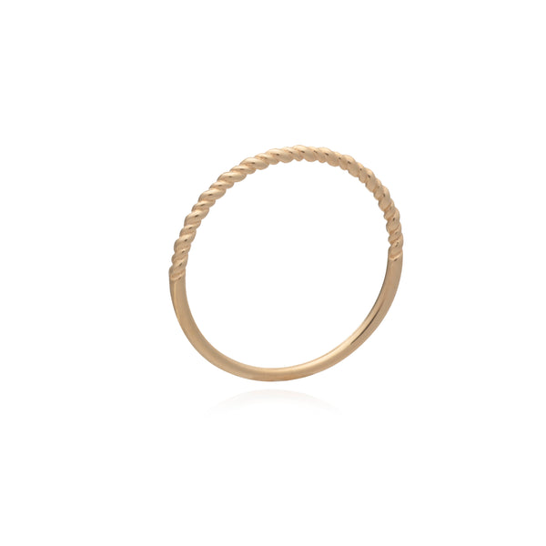 Dina Tokio Gold Twist Midi Ring
