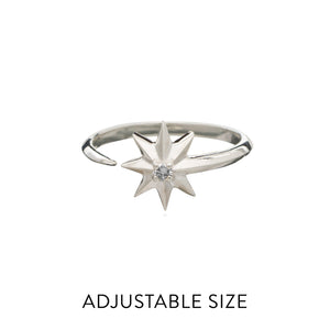 Rockstar Diamond Ring - Silver