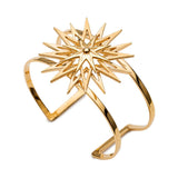 Star cuff bracelet gold Rachel Jackson London