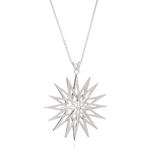 Rockstar Long Statement Necklace - Silver