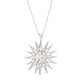 Star pendant necklace large silver Rachel Jackson London